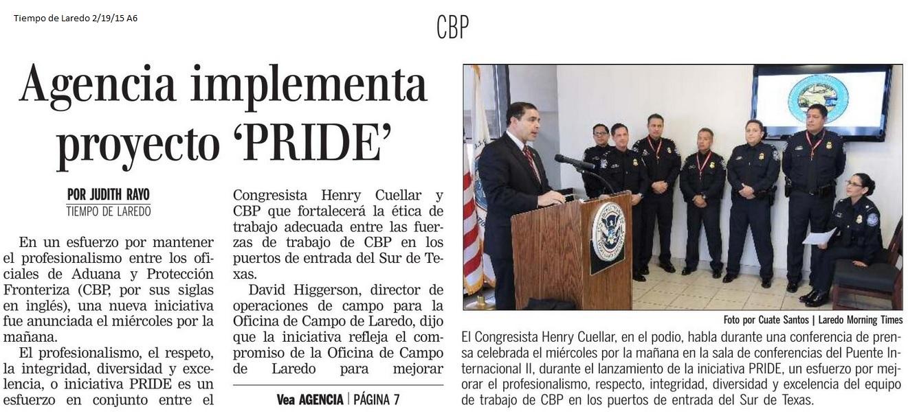 Tiempo de Laredo: Agencia implementa proyecto 'PRIDE' | Rep