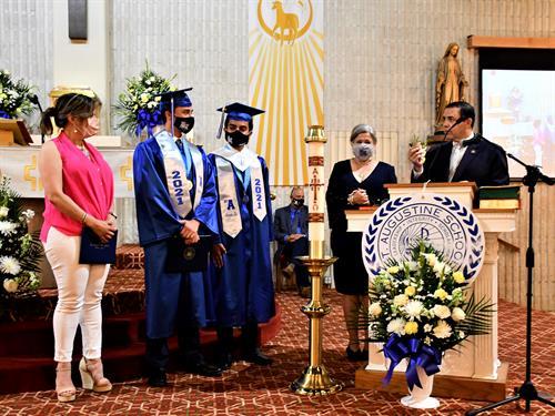 Rep. Cuellar presenting certificate to Eduardo Perez