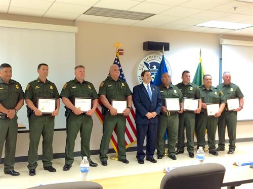 rep  cuellar honors heroic border patrol agents who risked