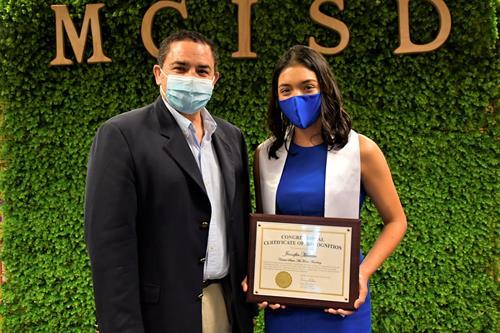 Rep. Cuellar and Jennifer Moreno